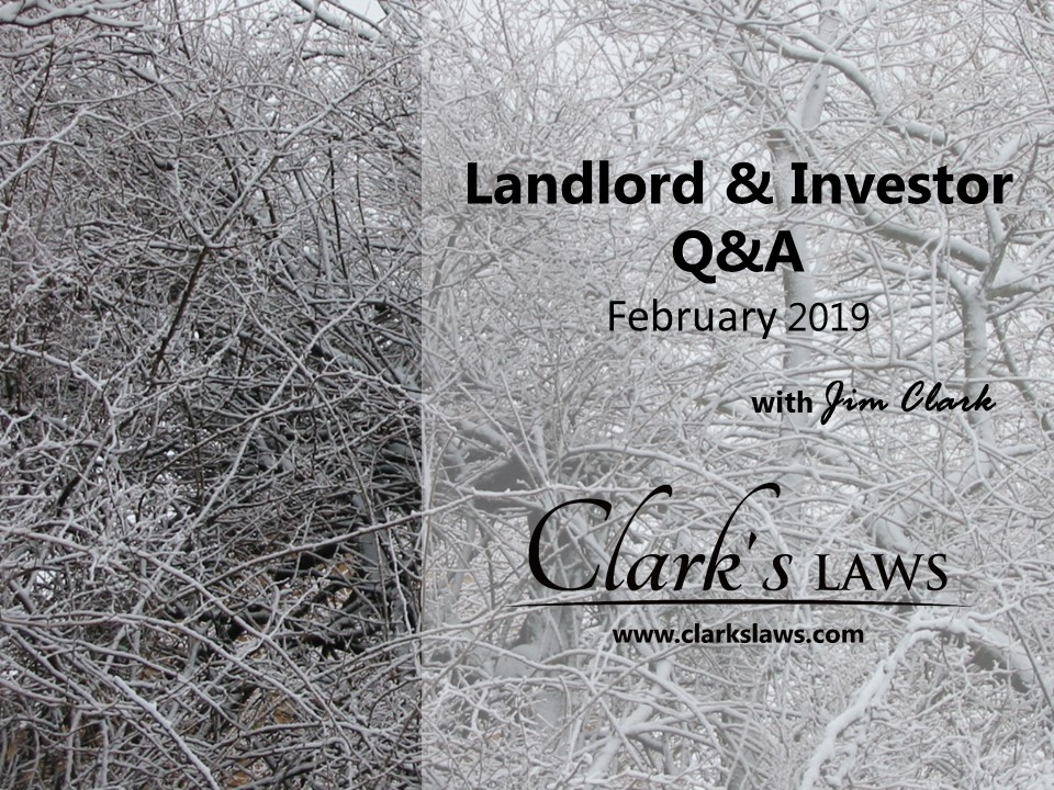 Clarks Laws Q&A February 19