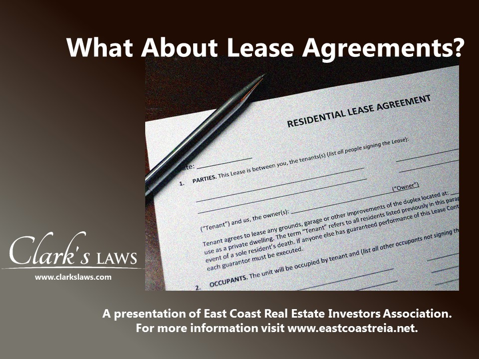 Lease agreement laws on Long Island